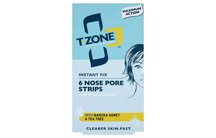 7. T-Zone Instant Fix Nose Pore Strips For Blackheads