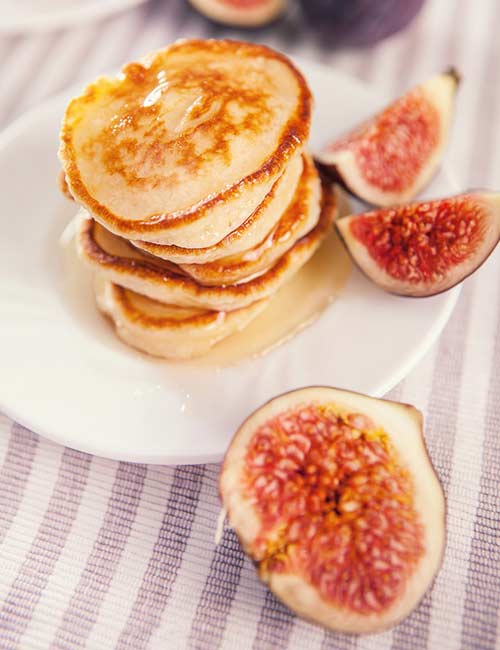 7. Vegan Figs And Banana Pancake