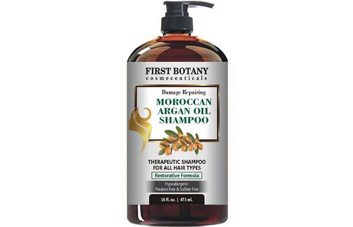 8. First Botanical Damage Repairing Moroccan Shampoo for Argan Oil