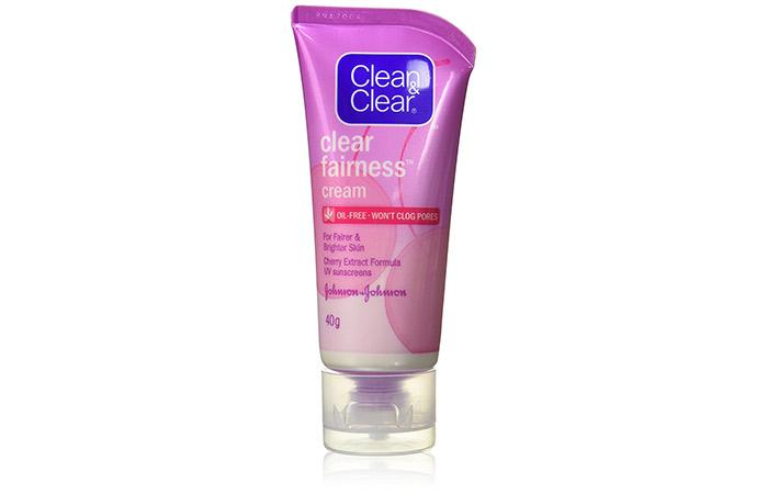 क्लीन एंड क्लियर फ़ेयरनेस क्रीम (Clean & Clear Fairness Cream)