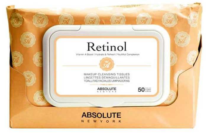 Absolute New York Retinol Makeup Cleansing Tissues