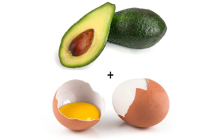 Avocado and egg white facial mask - for oily skin