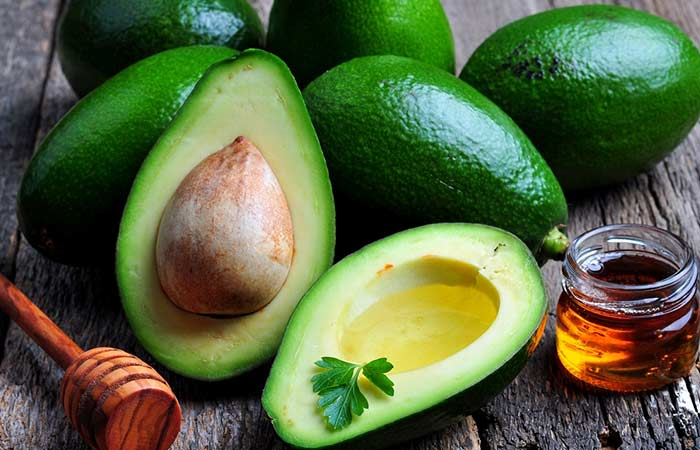 1 Avocado and honey for face mask - for acne with saturation and dry skin