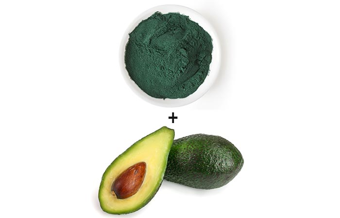Face Mask with Avocado and Spirulina - For All Skin Types