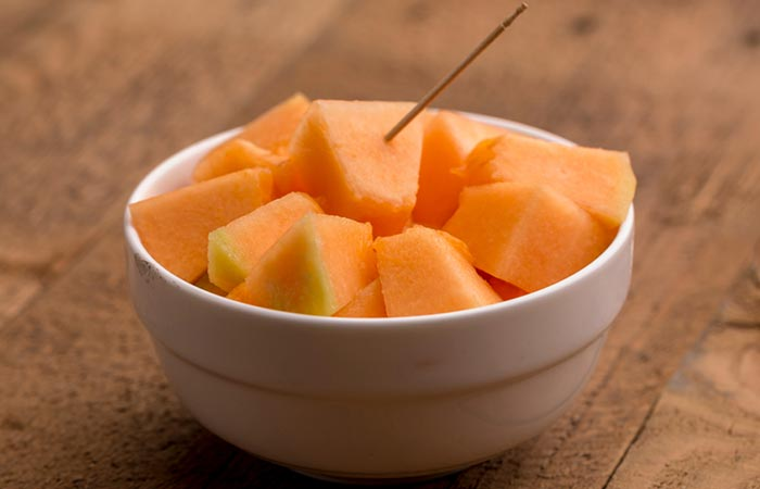Cantaloupe And Pepita Tossed In Lime Juice