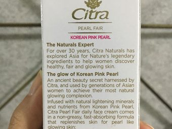Citra Pearl Fair Face Cream With Korean Pink Pearl pic 3-Love the feel and finish-By Mansi_Sharma