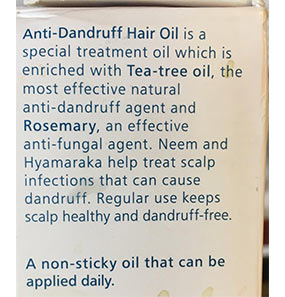 Himalaya Anti-Dandruff Hair Oil pic 4-Keeps me clean for a long time-By chonbeni