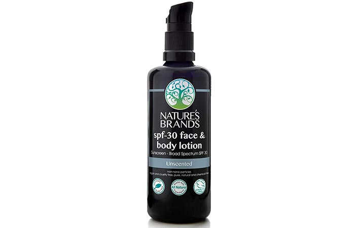 Nature's Brands SPF 30 Face And Body Lotion