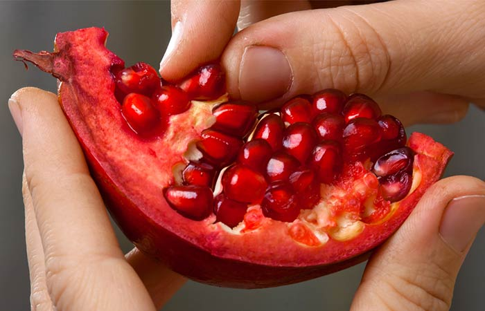 Now, the pomegranate peel helps to improve not just our health