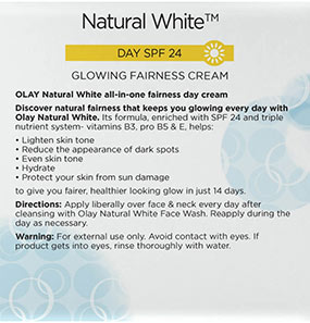 Olay Natural White Day SPF 24 / PA ++ Glowing Fairness Cream