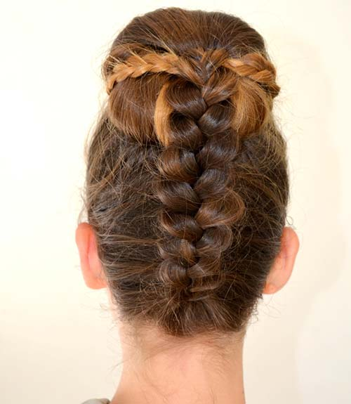 Behind Dutch Braid Updo - Dutch Braid