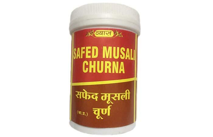 Diameter white musli powder