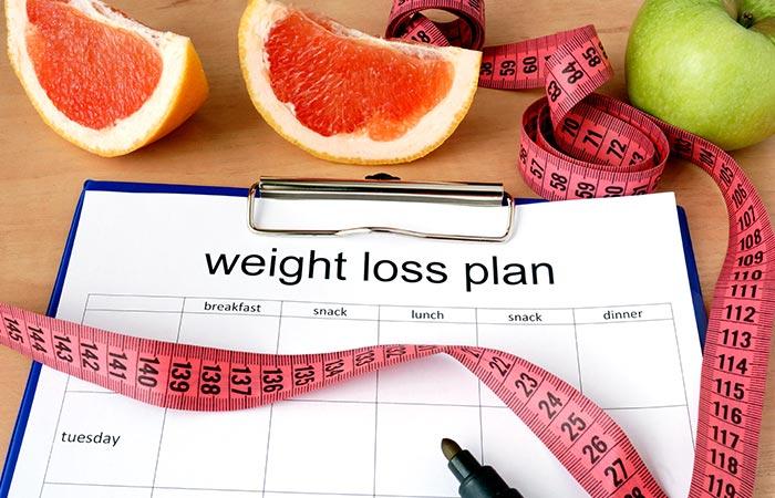 वजन कम करने के लिए डाइट चार्ट