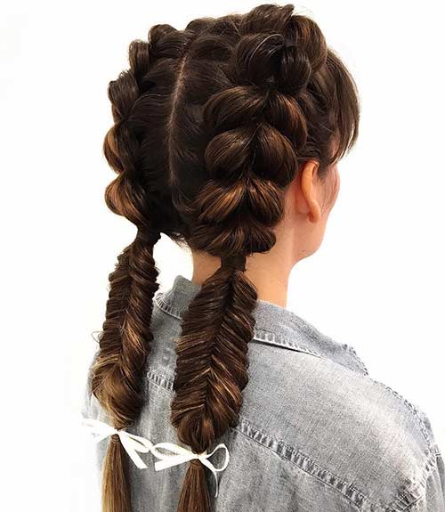 Double Dutch Fishtail Braid - Dutch Braid