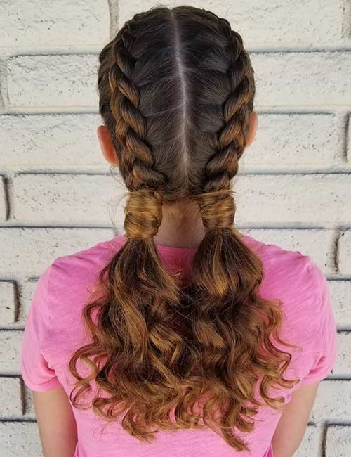 Double Dutch Pigtails - Dutch Braid