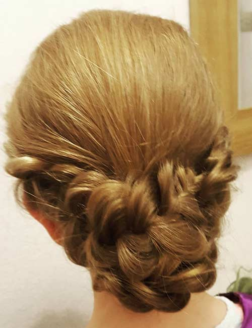 Double Dutch Updo - Dutch Braid