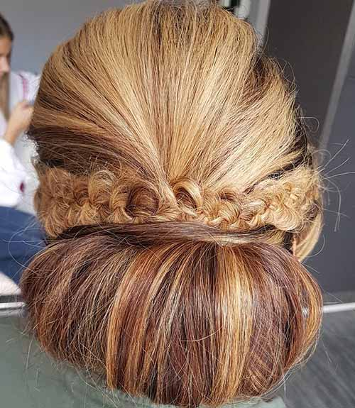 Dutch Braid With A Bouffant Updo - Dutch Braid