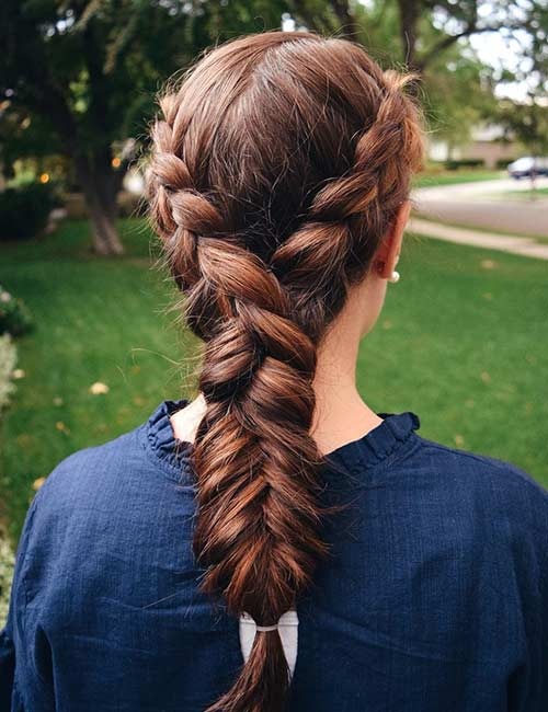 Dutch Mix Fishtail Braid - Dutch Braid