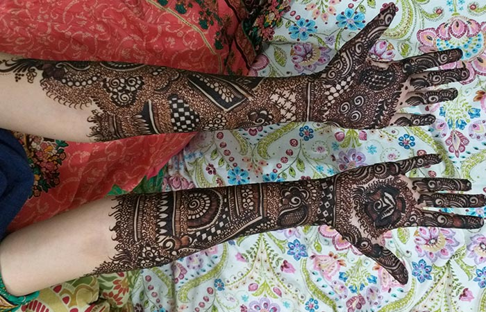 Full Hand Mehndi Design in Hindi