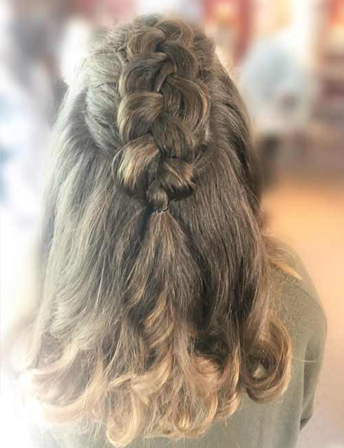 Half Dutch Braid - Dutch Braid