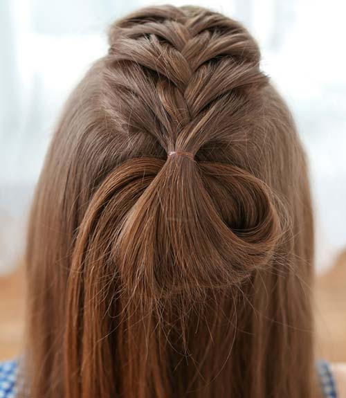 Half Dutch Fishtail Knot - Dutch Braid