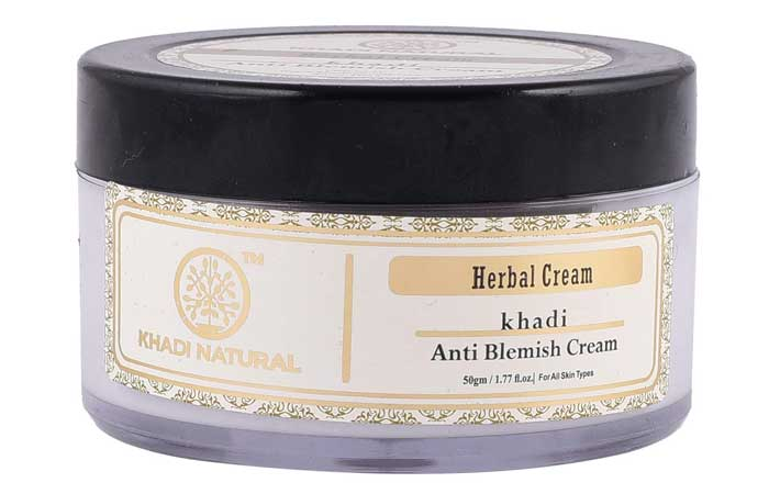 Khadi Naturals Herbal Anti Blemish Cream