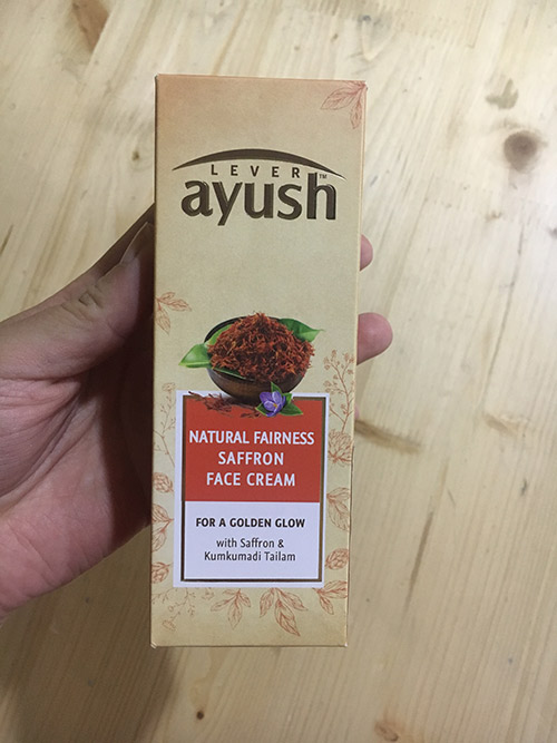 Lever Ayush Natural Fairness Saffron Face Cream-Nothing surprising-By Vaishali_Chellapa-1