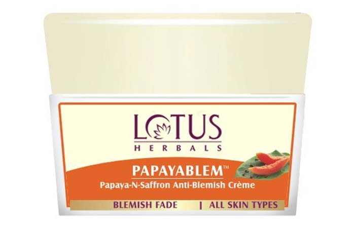Lotus Herbals Papayabalem Papaya-and-Saffron Anti-Blemish Cream