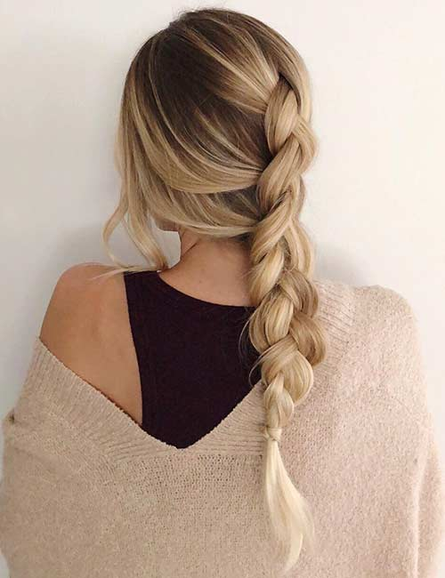 Messy Dutch Braid - Dutch Braid