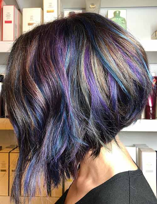 Multicolored A-line Bob