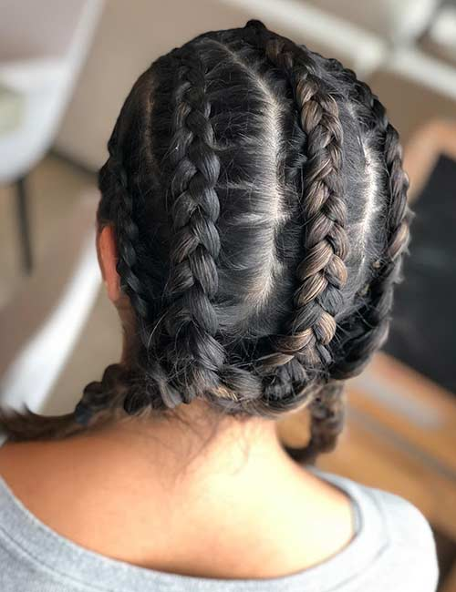 Multiple Dutch Braids - Dutch Braid