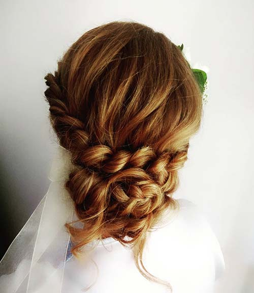 One-Sided Dutch Updo - Dutch Braid