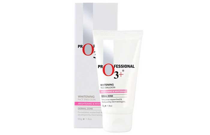Professional o3 plus whitening face emulsion