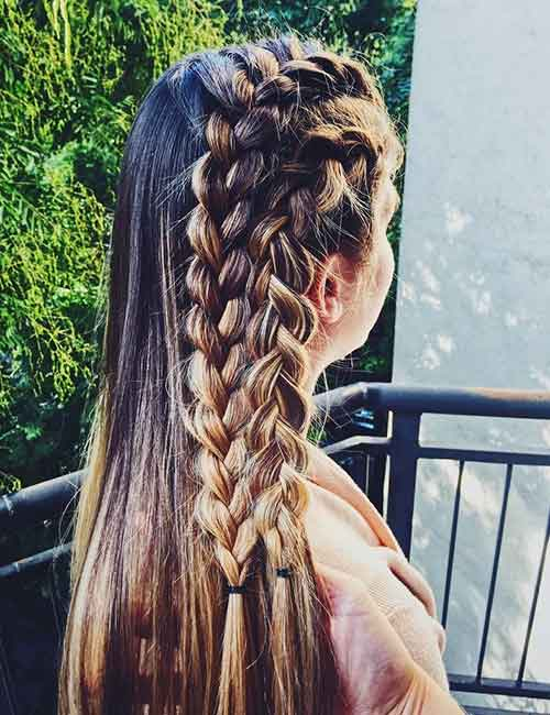 Side Accent Dutch Braids - Dutch Braid