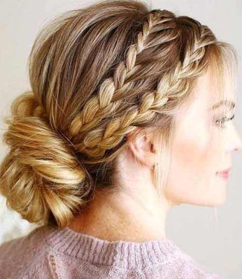 Side Dutch Braids With Low Updo - Dutch Braid