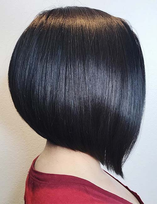 Sleek Black A-line Bob