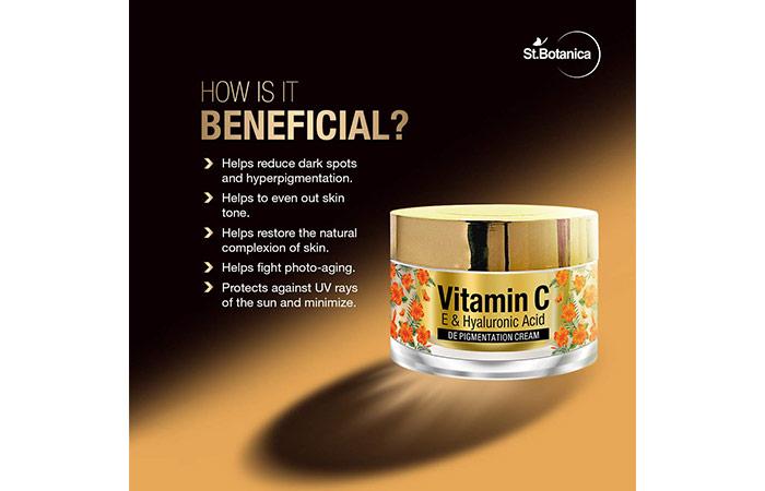 St. Botanica Vitamin-C, E and Hyaluronic Acid Depigmentation Cream