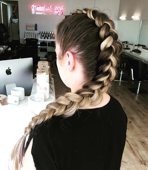 The Simple Dutch Braid -  Dutch Braid
