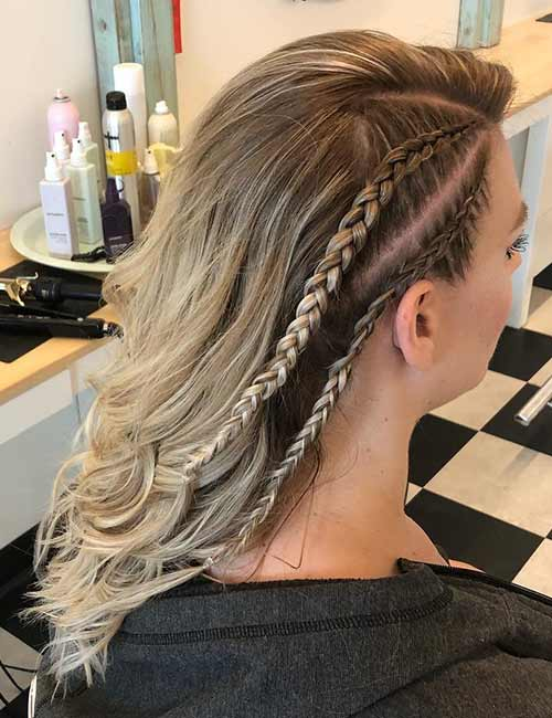 Undercut Dutch Accent Braids - Dutch Braid