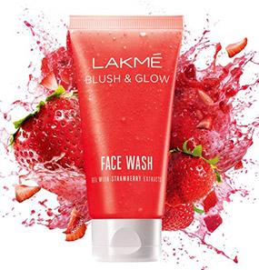 Lakme Blush & Glow Strawberry Gel Face Wash