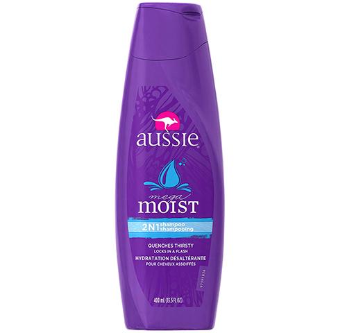 Aussie Mega Moist 2 N 1 Shampoo