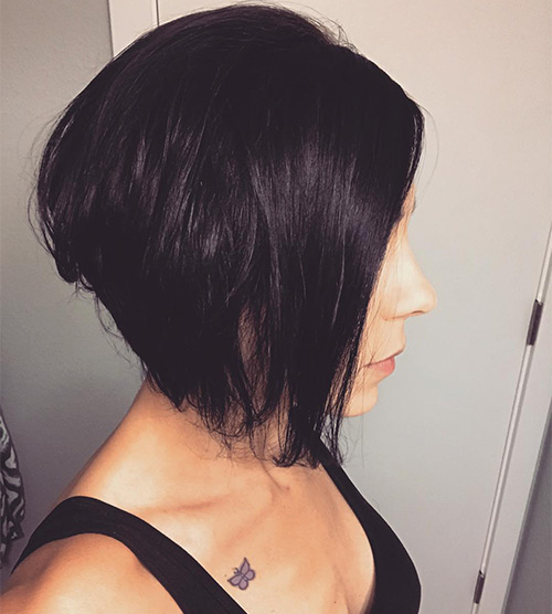 Black Inverted Bob
