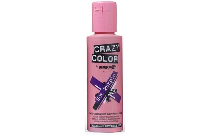 Crazy Color Semi-Permanent Hair Color – Hot Purple