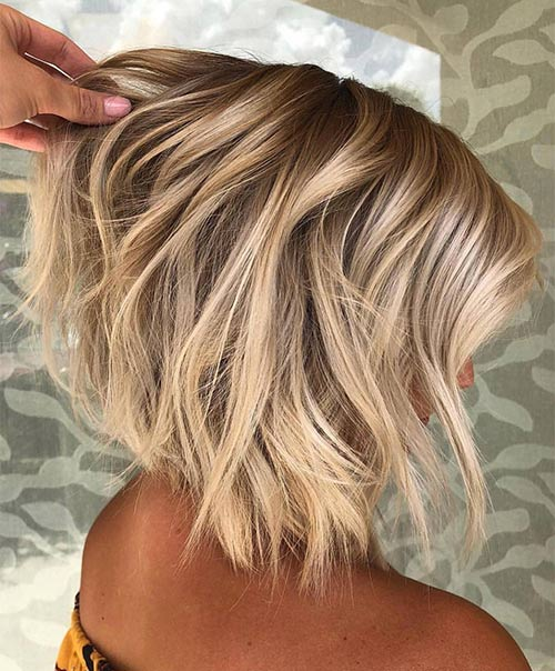 Dark To Light Blonde Inverted Bob