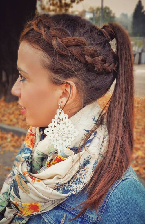 Dutch Side Braided Ponytail - Side Braid
