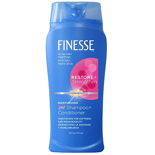 Finesse Restore + Strengthen Moisturizing 2 in 1 Shampoo + Conditioner