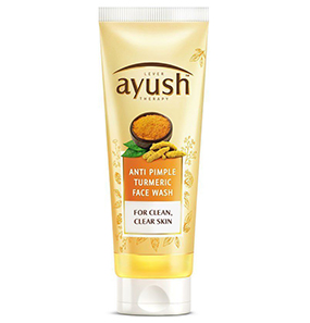 Lever Ayush Anti Pimple Turmeric Face Wash