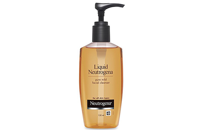 Liquid Nutraceña pure Mild Facial Cleanser in Hindi