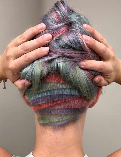 Pastel Layered Undercut