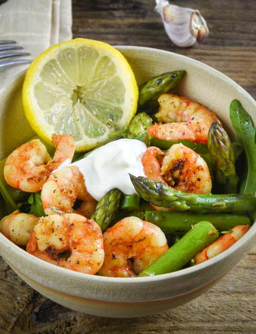 Sautéed Asparagus And Shrimp